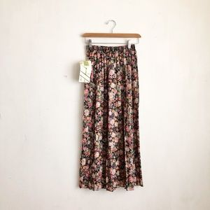 vintage skirt floral maxi Small pleated